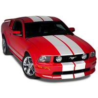 White Lemans Stripes - 12in (79-14 All) - AmericanMuscle Graphics 26051