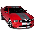 Silver Lemans Stripes - 12 in. (05-14 All) - American Muscle Graphics 26052
