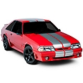 Silver Lemans Stripes - 12 in. (79-93 All) - American Muscle Graphics 26052