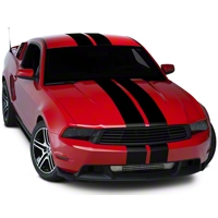 Black Lemans Stripes - 8in (05-14 All) - AmericanMuscle Graphics 26053