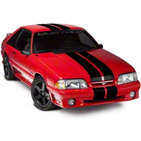 Black Lemans Stripes - 8in (79-93 All) - AmericanMuscle Graphics 26053