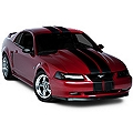Black Lemans Stripes - 8 in. (94-04 All) - American Muscle Graphics 26053