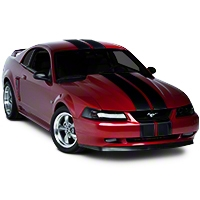 Black Lemans Stripes - 8in (94-04 All) - American Muscle Graphics 26053
