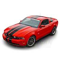 Black Lemans Stripes - 8in (79-14 All) - AmericanMuscle Graphics 26053