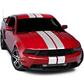 White Lemans Stripes - 8in (05-14 All) - American Muscle Graphics 26054