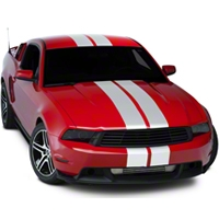 White Lemans Stripes - 8in (05-14 All) - AmericanMuscle Graphics 26054