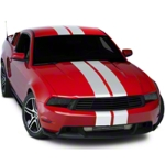 White Lemans Stripes - 8 in. (05-14 All) - American Muscle Graphics 26054