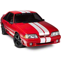 White Lemans Stripes - 8in (79-93 All) - AmericanMuscle Graphics 26054