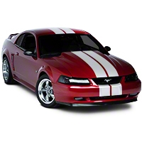White Lemans Stripes - 8in (94-04 All) - AmericanMuscle Graphics 26054