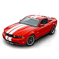 White Lemans Stripes - 8in (79-14 All) - AmericanMuscle Graphics 26054