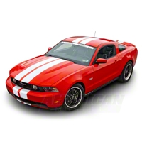 White Lemans Stripes - 8 in. (79-14 All) - American Muscle Graphics 26054