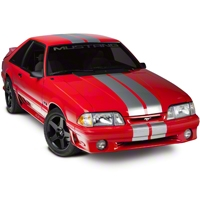 Silver Lemans Stripes - 8 in. (79-93 All) - American Muscle Graphics 26055
