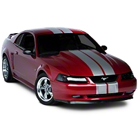 Silver Lemans Stripes - 8in (94-04 All) - AmericanMuscle Graphics 26055