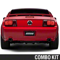 Honeycomb Brake Light Trim Kit (05-09 All) - American Muscle Graphics 26063||26068||KIT