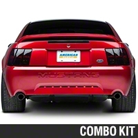 Smoked Brake Light Tint Kit (99-04 All; Excludes 03-04 Cobra) - American Muscle Graphics 26060||26065||KIT