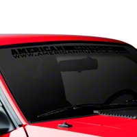 AmericanMuscle Windshield Banner - Black (79-93 All) - AmericanMuscle Graphics 26074