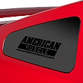 AmericanMuscle Quarter Window Decal - Black (05-14 All) - AmericanMuscle Graphics 26075