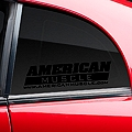 AmericanMuscle Quarter Window Decal - Black (79-14 All) - American Muscle Graphics 26075