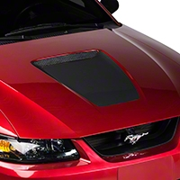 Matte Black Hood Decal (99-04 GT & 99-02 V6) - AmericanMuscle Graphics 26076