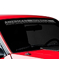 AmericanMuscle Windshield Banner - Frosted (79-93 All) - American Muscle Graphics 26101