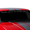Mustang Windshield Decal - Frosted (79-93 All) - AmericanMuscle Graphics 26103