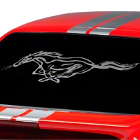 Running Pony Window Decal - Frosted (79-93 All)