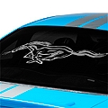 Running Pony Window Decal - Frosted (94-04 All)