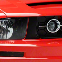 Grille Pillar Blackout - Matte Black (05-09 V6) - American Muscle Graphics 26115