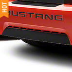 Matte Black Lower Rear Valance Accent (99-04 GT, V6, Mach 1; 99 Cobra) - American Muscle Graphics 26116