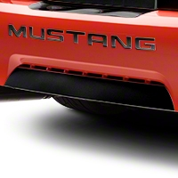 Gloss Black Lower Rear Valance Accent (99-04 GT, V6, Mach 1) - AmericanMuscle Graphics 26117