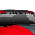 AmericanMuscle Windshield Banner - Black (05-14 All) - AmericanMuscle Graphics 26118