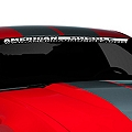 AmericanMuscle Windshield Banner - White (05-14 All) - AmericanMuscle Graphics 26119