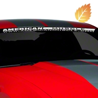 AmericanMuscle Windshield Banner - White (05-14 All) - American Muscle Graphics 26119