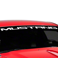 Mustang Windshield Banner - White (05-14 All) - AmericanMuscle Graphics 26123