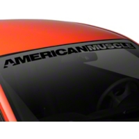 AmericanMuscle Windshield Banner - Black (94-04 All) - AmericanMuscle Graphics 26126