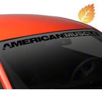 AmericanMuscle Windshield Banner - Black (94-04 All) - American Muscle Graphics 26126
