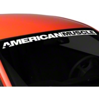 AmericanMuscle Windshield Banner - White (94-04 All) - AmericanMuscle Graphics 26127