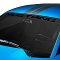Mustang Windshield Banner - Black (94-04 All) - AmericanMuscle Graphics 26130