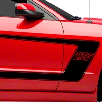 Black Boss C-Style Side Stripe w/ Lettering (05-14 All) - American Muscle Graphics 26143