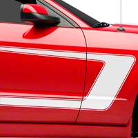 White Boss C-Style Side Stripe (05-14 All) - AmericanMuscle Graphics 26146