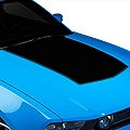 Black Boss Style Hood Decal (10-12 GT, V6) - AmericanMuscle Graphics 26149