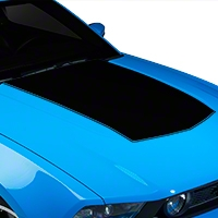 Black Boss Style Hood Decal (10-12 GT, V6) - American Muscle Graphics 26149
