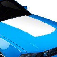 White Boss Style Hood Decal (10-12 GT, V6) - AmericanMuscle Graphics 26150