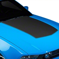 Matte Black Boss Style Hood Decal (10-12 GT, V6) - American Muscle Graphics 26151