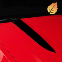 Black Hood Accent Decal (10-12 GT, V6) - American Muscle Graphics 26152