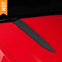 Matte Black Hood Accent Decal (10-12 GT, V6) - AmericanMuscle Graphics 26154