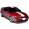 White Super Snake Style Stripe Kit (94-04 All) - AmericanMuscle Graphics 26155