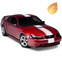 White Super Snake Style Stripe Kit (94-04 All) - American Muscle Graphics 26155