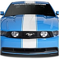 White Super Snake Style Stripe Kit (79-14 All) - American Muscle Graphics 26155