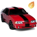 Black Super Snake Style Stripe Kit (79-93 All) - American Muscle Graphics 26156
